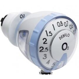 Débitmètre Oxygène DEBFLO avec sortie tétine (voir accessoires en bas de page)