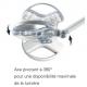 Derungs Visiano possède un axe pivotant à 360° pour une disponibilité maximale de la lumière