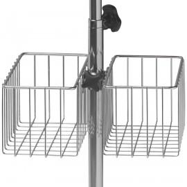 Panier double fil inox 290x140x145mm pour fourreau diamètre 30 mm