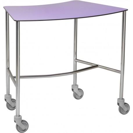 Table à instruments Haricot 1 plateau résine couleur