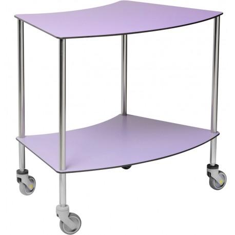 Table à instruments Haricot 2 plateaux