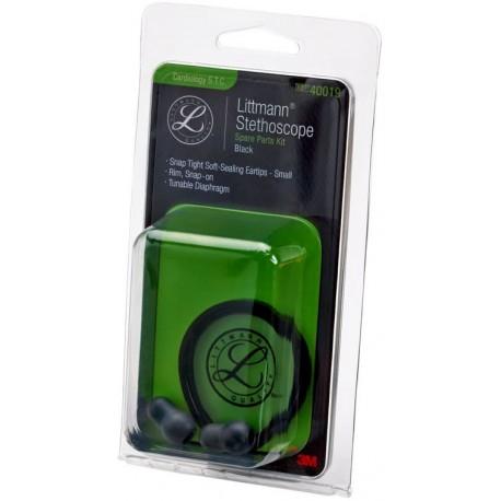 Kit pièces détachées pour stéthoscope Littmann Soft Touch Cardiologie, Noir