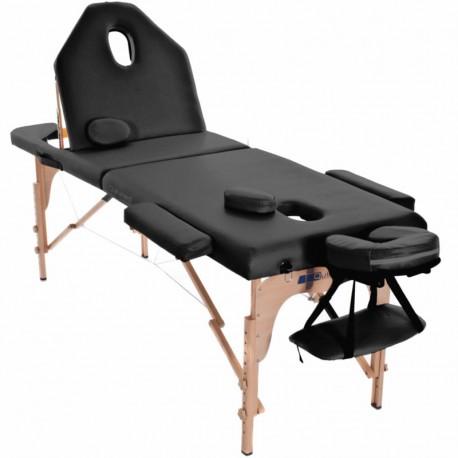 Table de massage Holtex pliable CELEBES 2 coloris noir