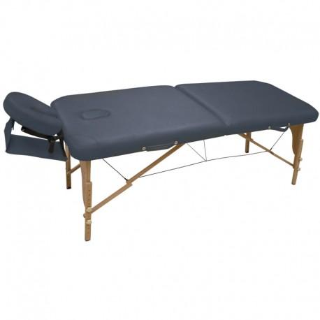 Table de massage pliable WOOD coloris noir