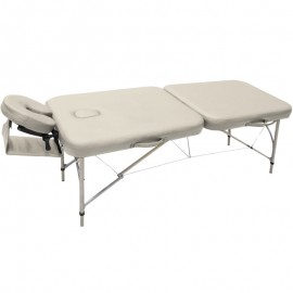 Table de massage pliable ALUMINIUM, coloris beige