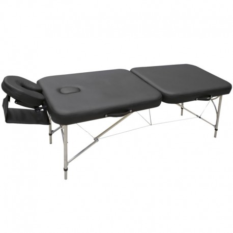 Table de massage pliable ALUMINIUM, coloris noir