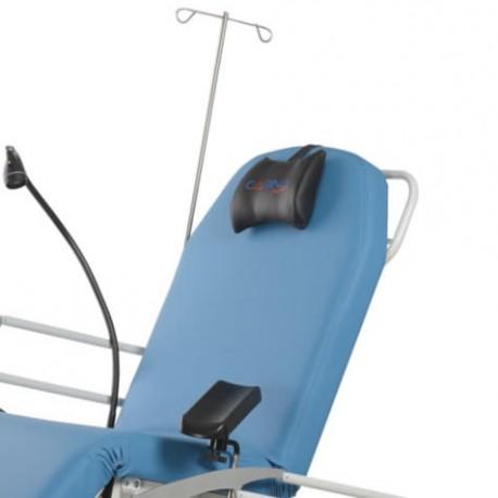 Tige porte sérum 2 crochets pour fauteuil ambulatoire Carina MULTIKA