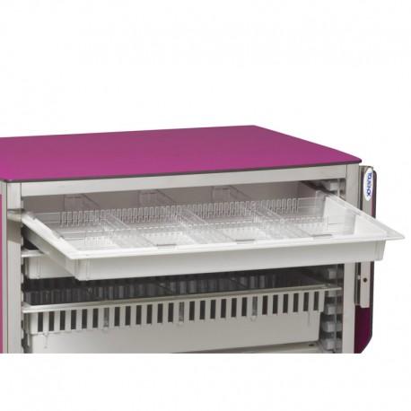 Séparateurs 12 cases modulables pour tiroir ABS 0,5 unité