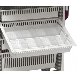 Séparateurs 12 cases modulables pour tiroir ABS 1 unité