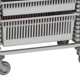 Hauteur du Tiroir ABS 2 unités pour chariot modulaire Tourinox