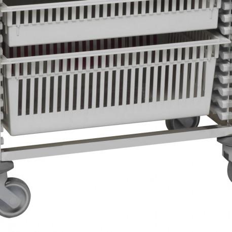 Tiroir ABS 2 unités pour chariot médical modulaire Tourinox