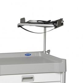Support défribrillateur pour chariot médical multifonctions