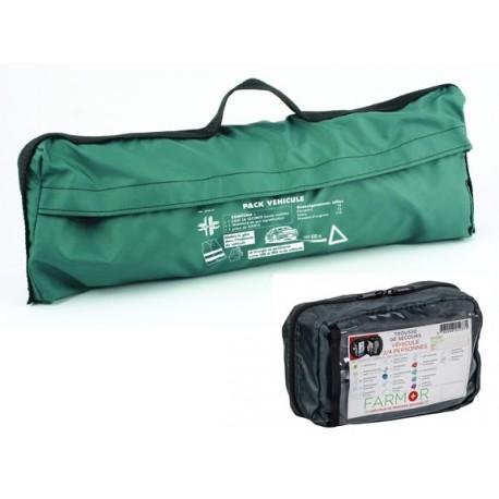 Pack véhicule triangle - gilet fluo - gants - trousse de secours FARMOR