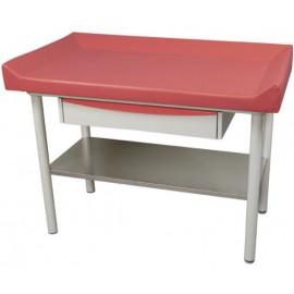 Table de pédiatrie avec tiroir et plateau