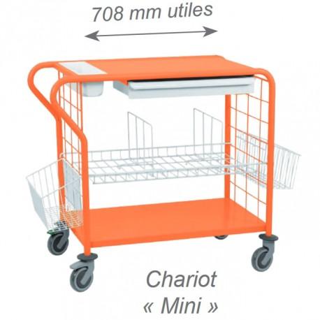 Chariot de change et de toilette pour 15 à 20 personnes, coloris orange
