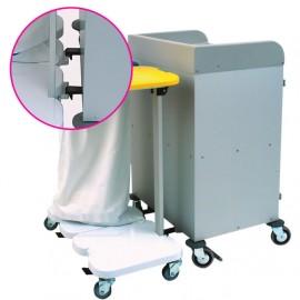 Système d'accroche amovible pour porte-sac à 2 sacs