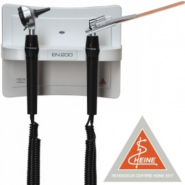 Station murale HEINE EN 200 - Otoscope BETA 400 LED et Abaisse Langue