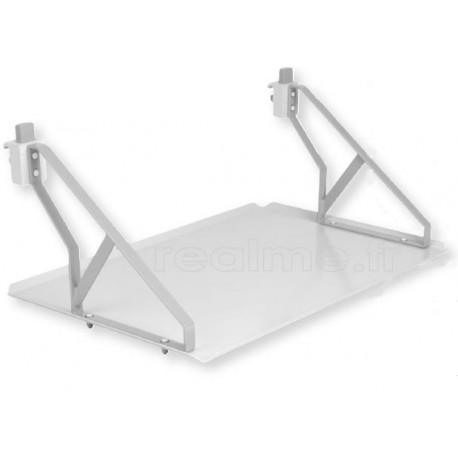 Tablette rail medico- technique 500x400 mm acier rilsanisé avec équerres