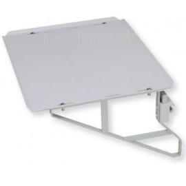 Tablette rail médical 500x400 mm acier rilsanisé avec équerres renforcées