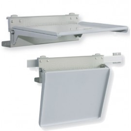 Tablette rabattable 350x300 mm pour rail medical