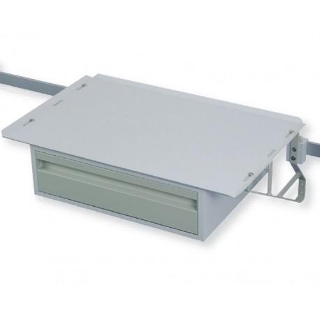 Tablette 650x425 mm renforcée 1 tiroir pour rail mural médical