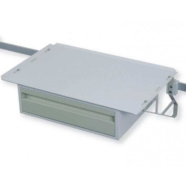 tablette 650x425 mm renforc e 1 tiroir pour rail m dical. Black Bedroom Furniture Sets. Home Design Ideas