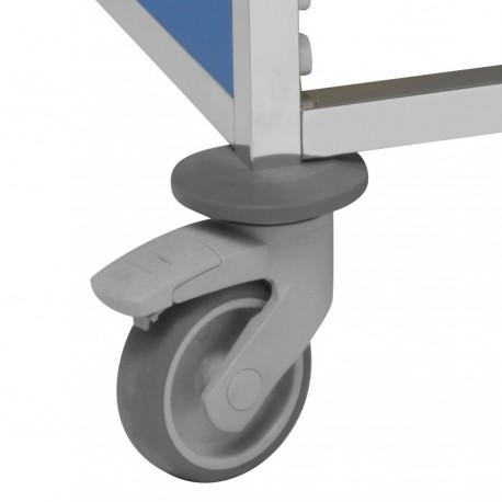 Option 2 roulettes à freins sur 4 pour chariot Tourinox