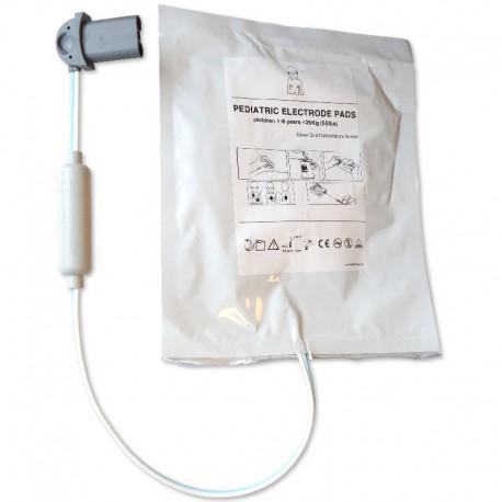 Electrodes pédiatriques pour défibrillateur SAVER ONE