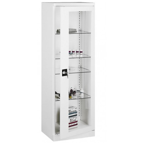 Armoire cabinet medical 1 porte vitree