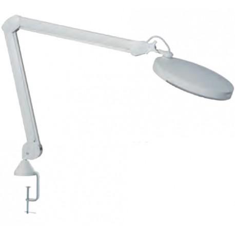 Lampe loupe Led 5 Dioptries avec etau pour table