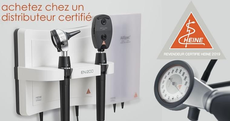Realme matériel médical distributeur certifié Heine